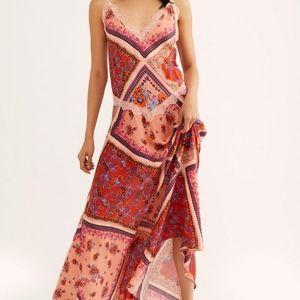 FREE PEOPLE Stevie Scarf Print Maxi Dress
